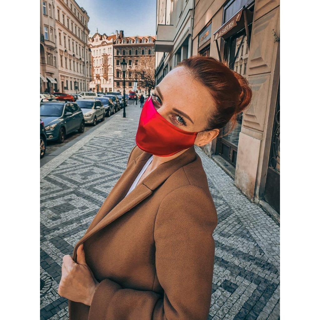 JK Klett breathable delicate silk mask- pink