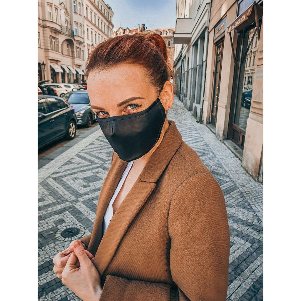 JK Klett breathable delicate silk mask – black