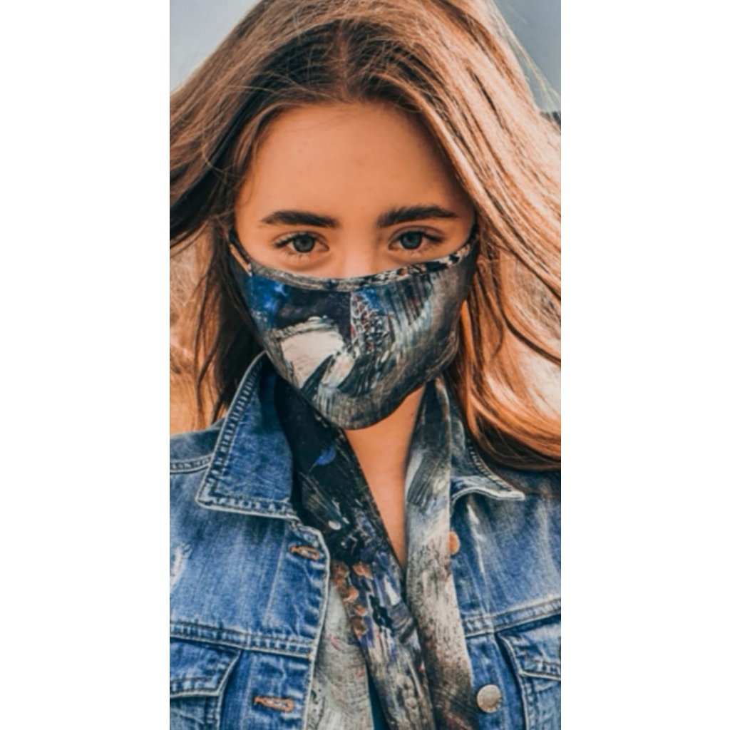 JK Klett Designer cotton face mask Espirity – blue