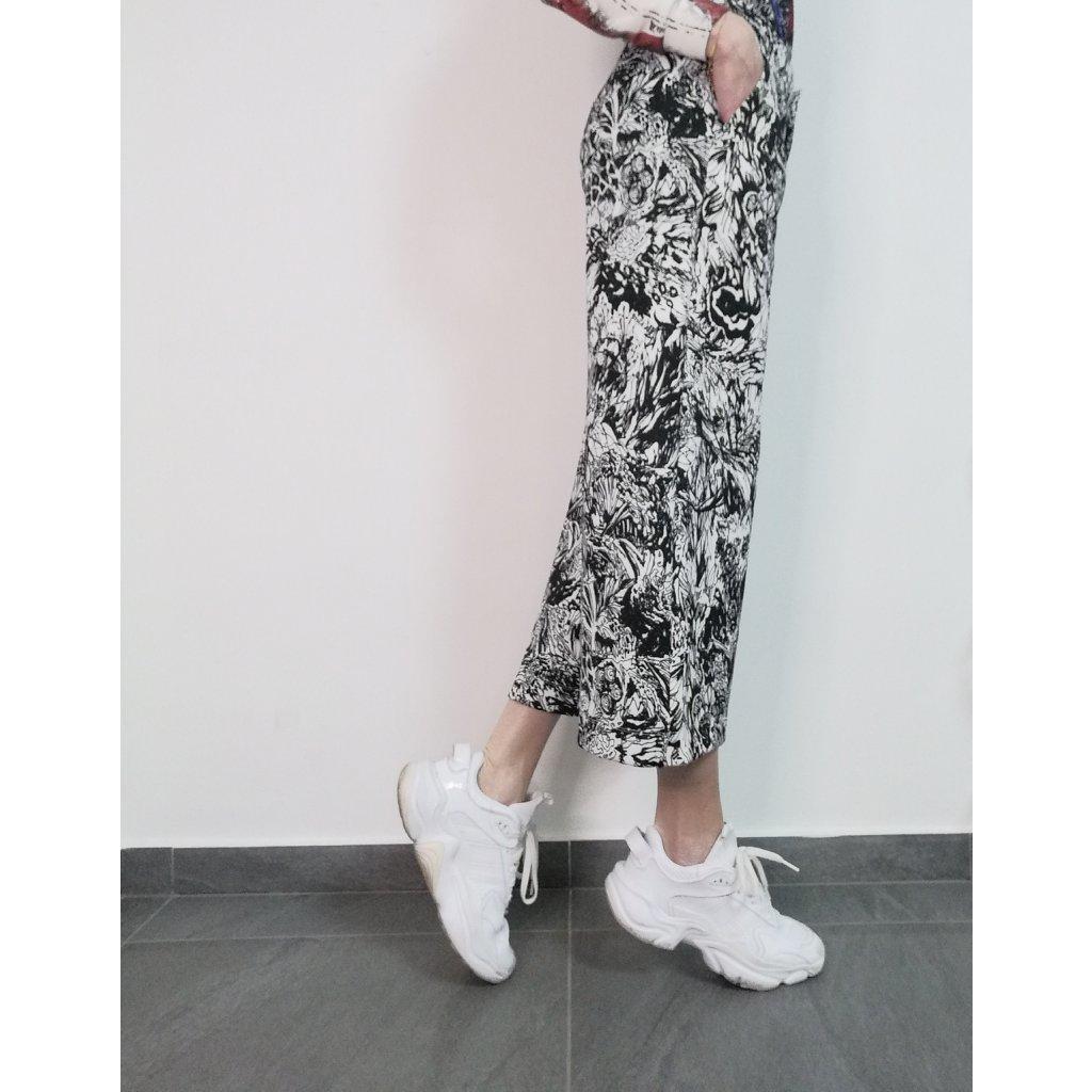 Cropped printed wide-leg LIBERTA pants