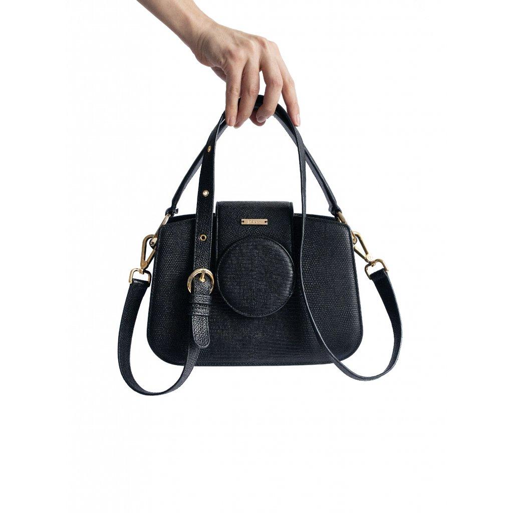 JK Klett small black leather shoulder bag LIBERTA / LIMITED EDITION