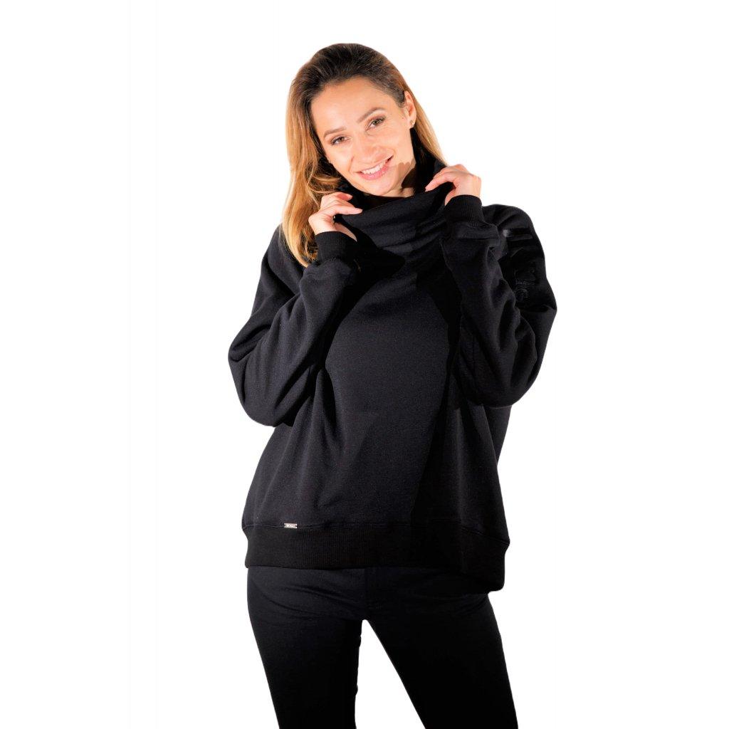 LIBERTA designer funnel neck sweatshirt/ black