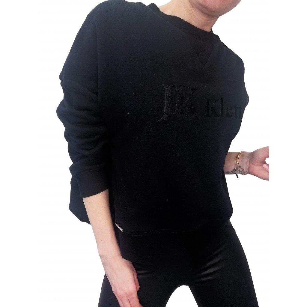 LIBERTA designer cropped sweatshirt/ black
