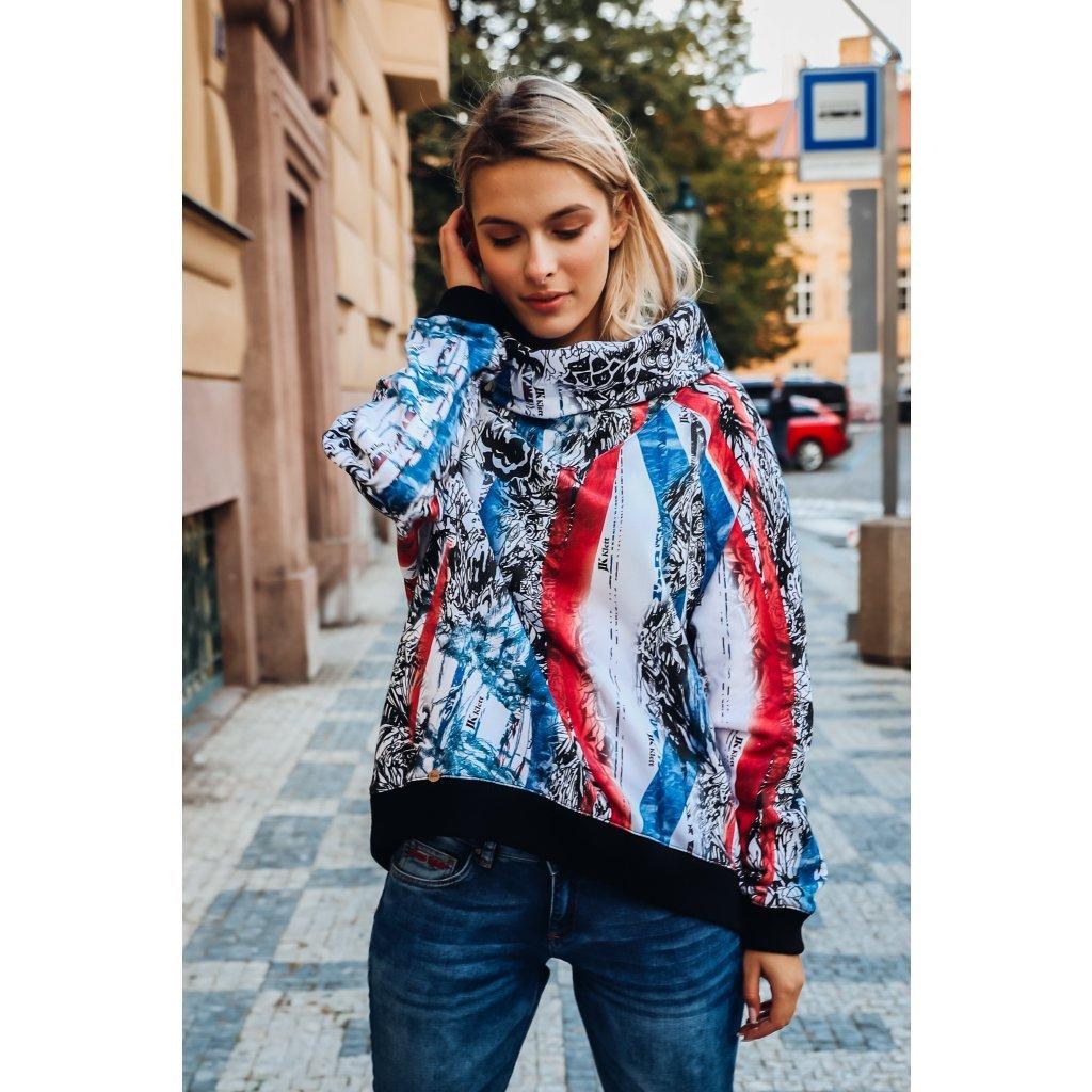 JK Klett smart casual funnel neck designer LIBERTA sweatshirt / LIMITED EDITION