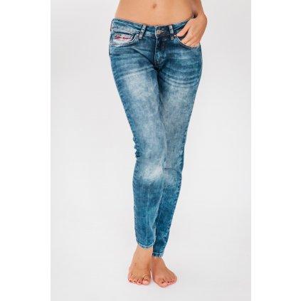 Blue boyfriend cut jeans