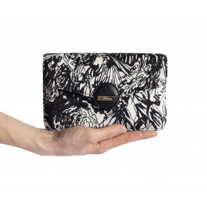 LIBERTA black and white print mini shoulder bag with chain strap/ LIMITED EDITION