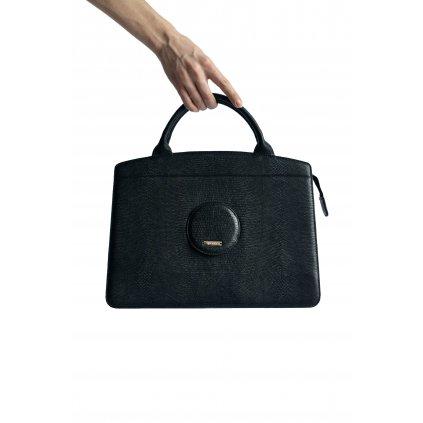 JK Klett big black LIBERTA leather tote / LIMITED EDITION