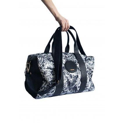 JK Klett leather trimmed weekend LIBERTA duffel bag / LIMITED EDITION