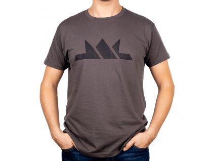 Pánské tričko s krátkým rukávem - šedé