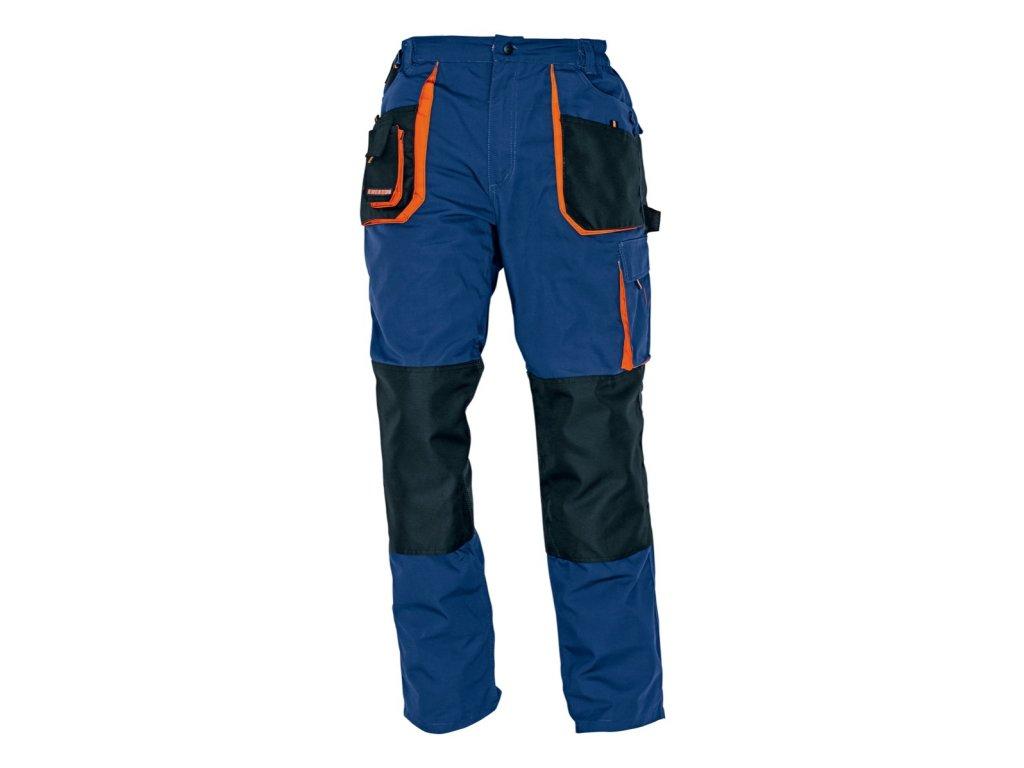 Montérkové kalhoty do pasu EMERTON  modrá/oranžová
