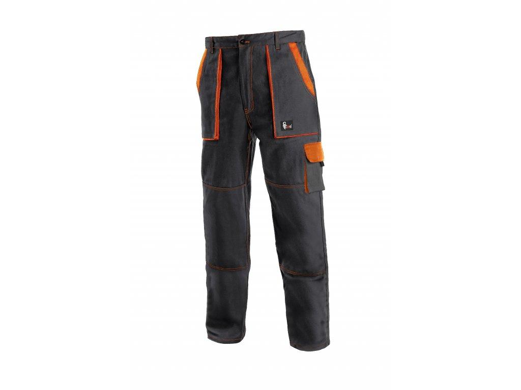 Montérkové kalhoty do pasu JOSEF LUX černo/oranžové