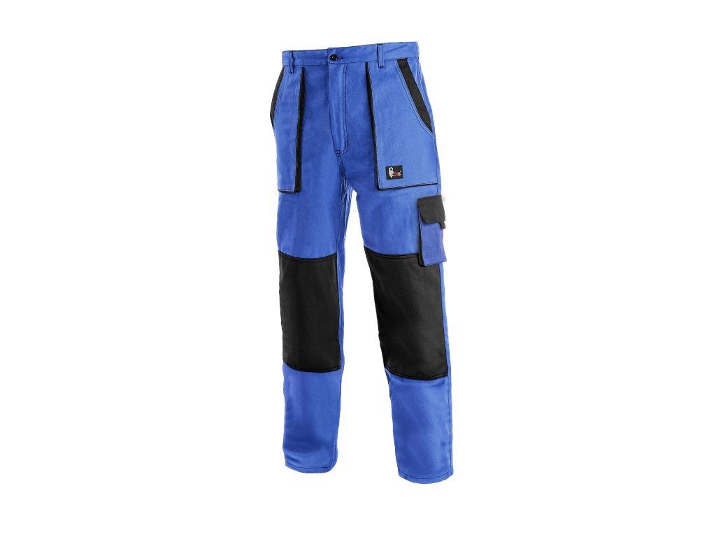 Montérkové kalhoty do pasu JOSEF LUX na výšku 194 cm modro/černé