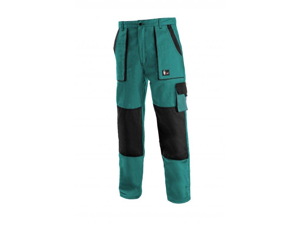 Montérkové kalhoty do pasu JOSEF LUX na výšku 194 cm zeleno/černé