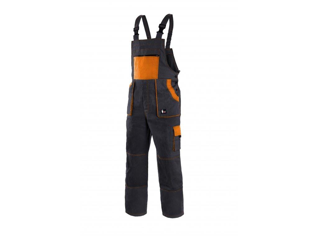 Montérkové kalhoty s laclem EMIL LUX černo-oranžové