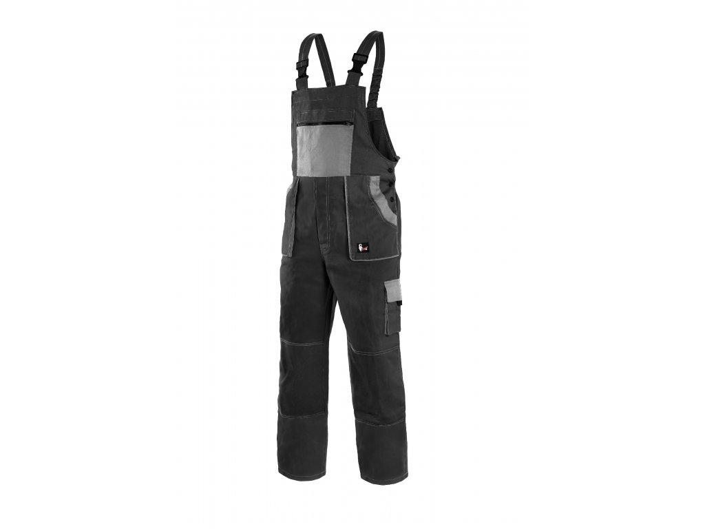 Montérkové kalhoty s laclem EMIL LUX černo-šedá
