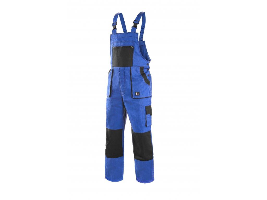 Montérkové kalhoty s laclem EMIL LUX na výšku 194 cm modro-černé