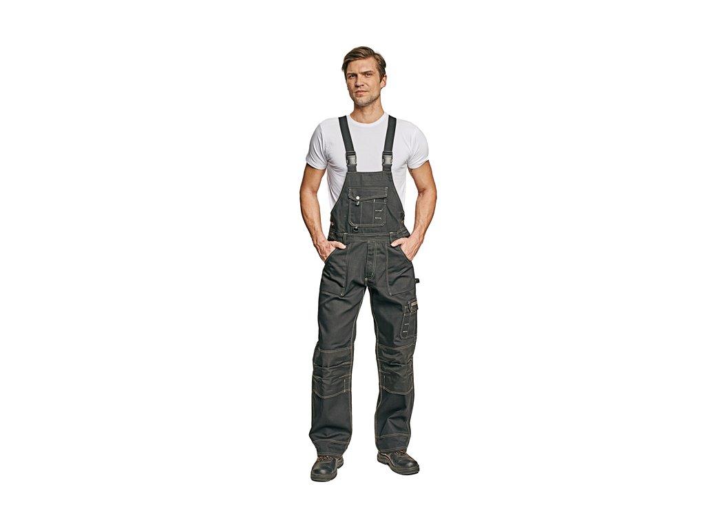 Montérkové kalhoty s laclem NARELLAN černá