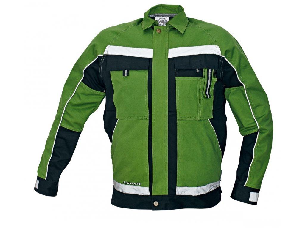 Montérková bunda STANMORE zelená/černá