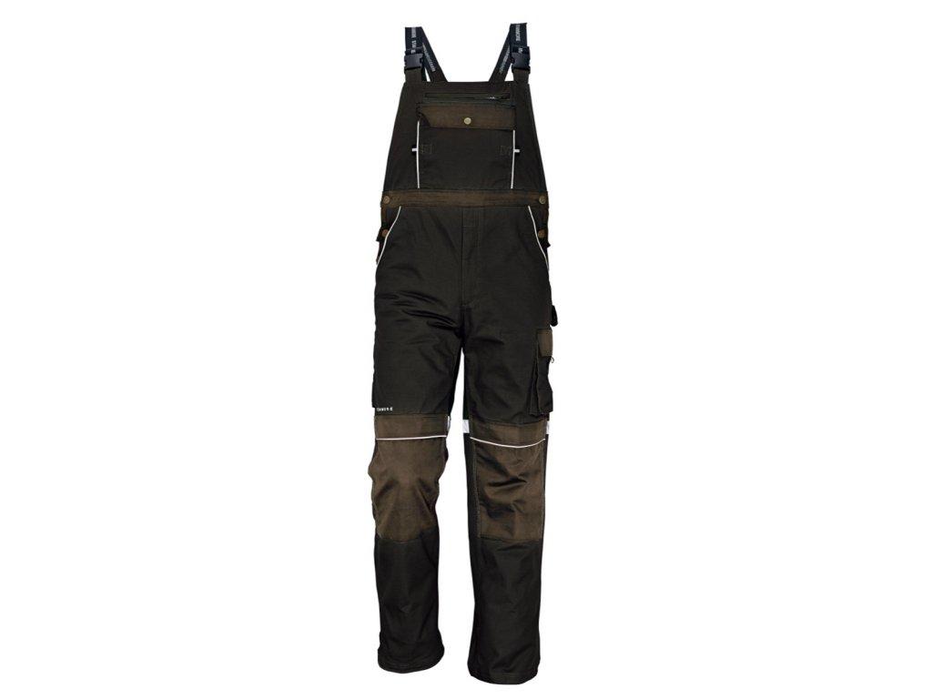 Montérkové kalhoty s laclem STANMORE tmavě hnědá