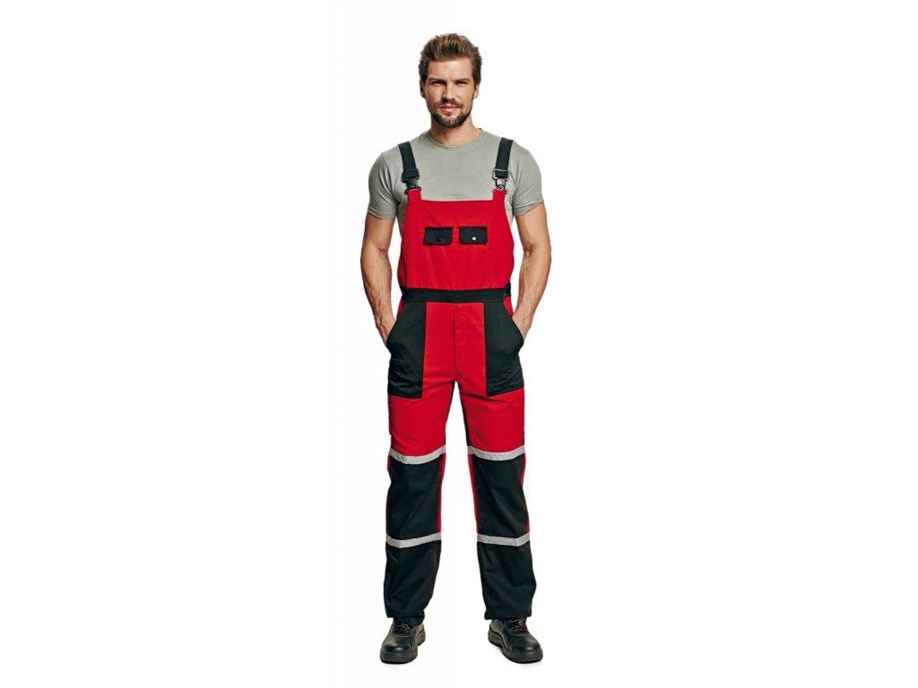 Montérkové kalhoty s laclem TAYRA červená