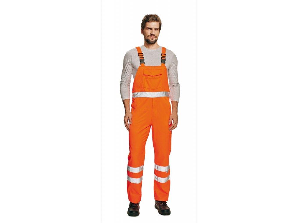 Kalhoty s laclem reflexní KOROS oranžová
