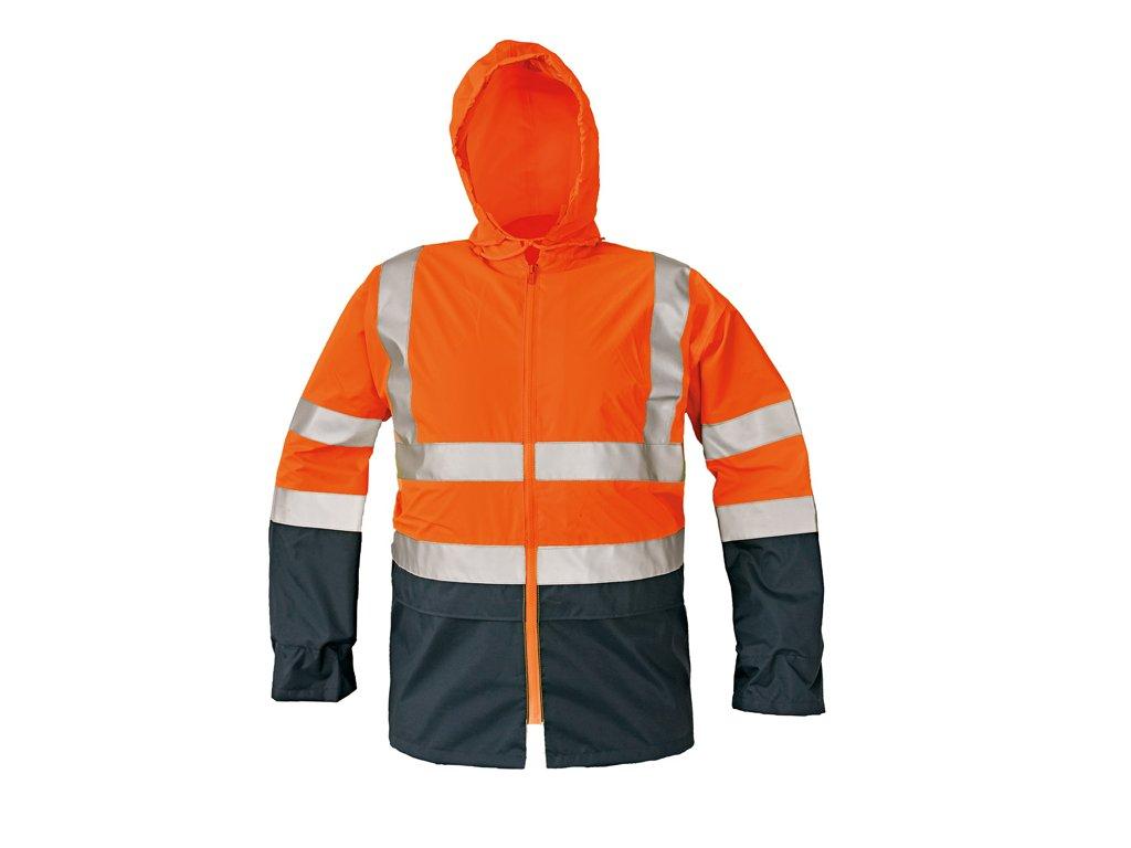 Reflexní bunda EPPING oranžová-modrá