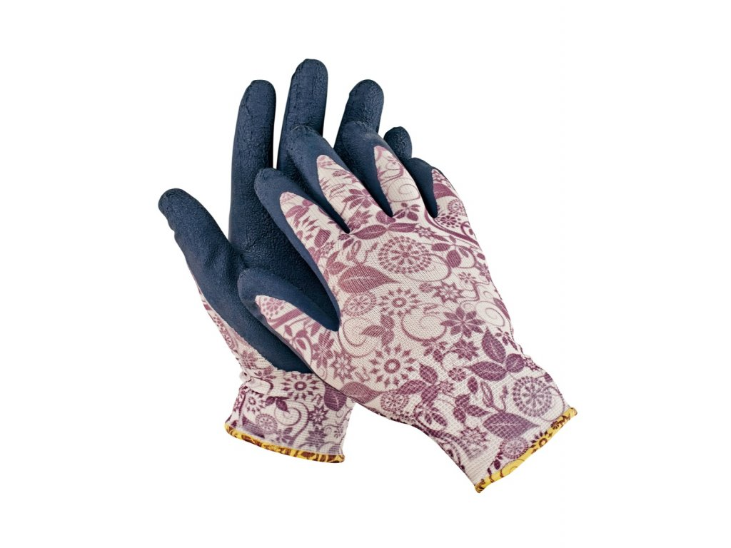 Pracovní rukavice bezešvé nylonové PINTAIL fialová
