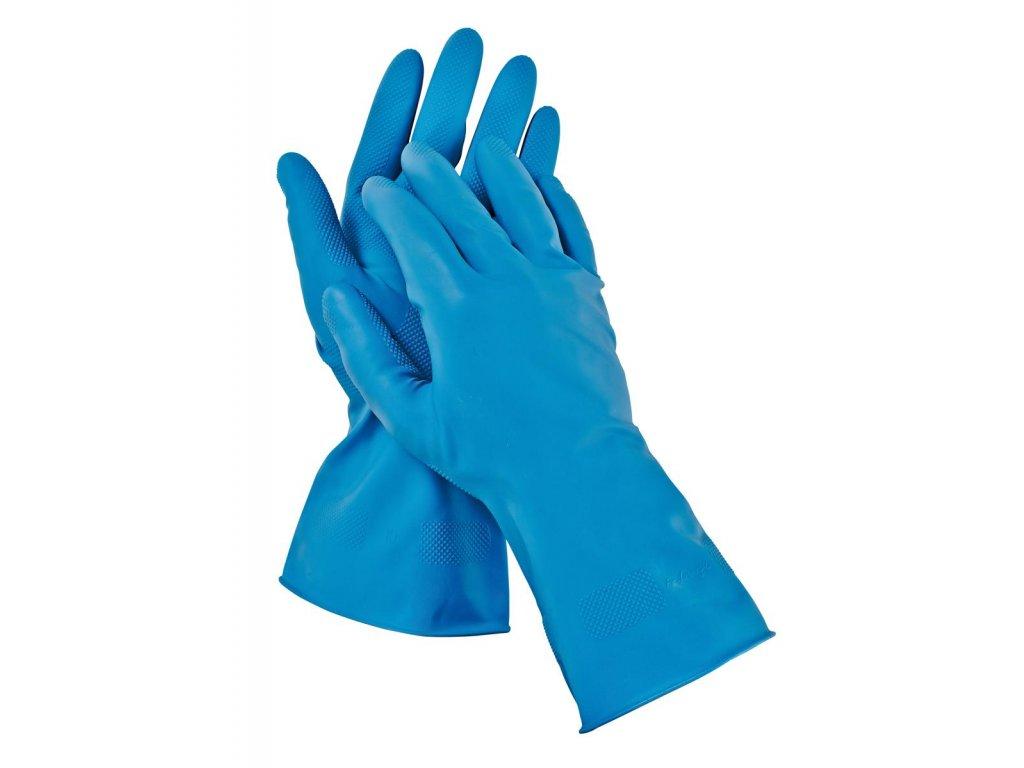 Pracovní rukavice latexové STARLING BLUE modrá