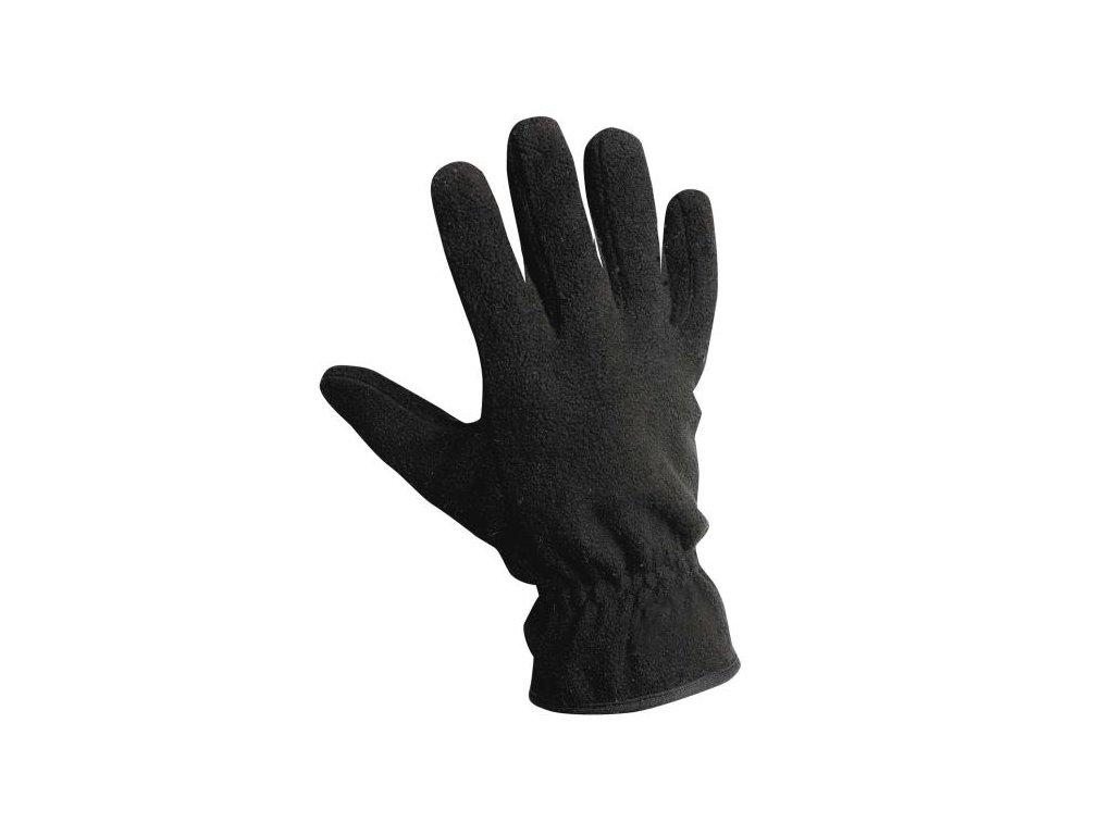 Textilní fleecové zateplené zimní rukavice MYNAH černá