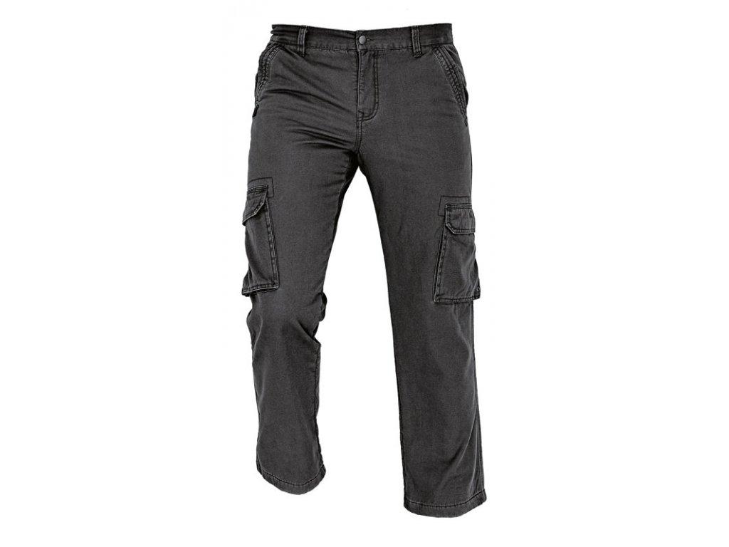 Kalhoty kargo do pasu RAHAN zateplené černá