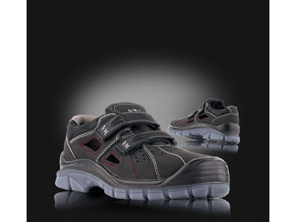 Sandál bezpečnostní LINCOLN celokožený, non METALIC