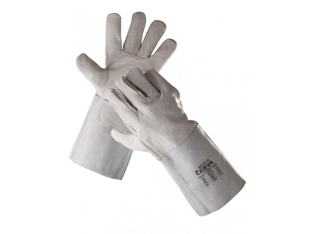 Pracovní rukavice celokožené MERLIN svářečské typ B