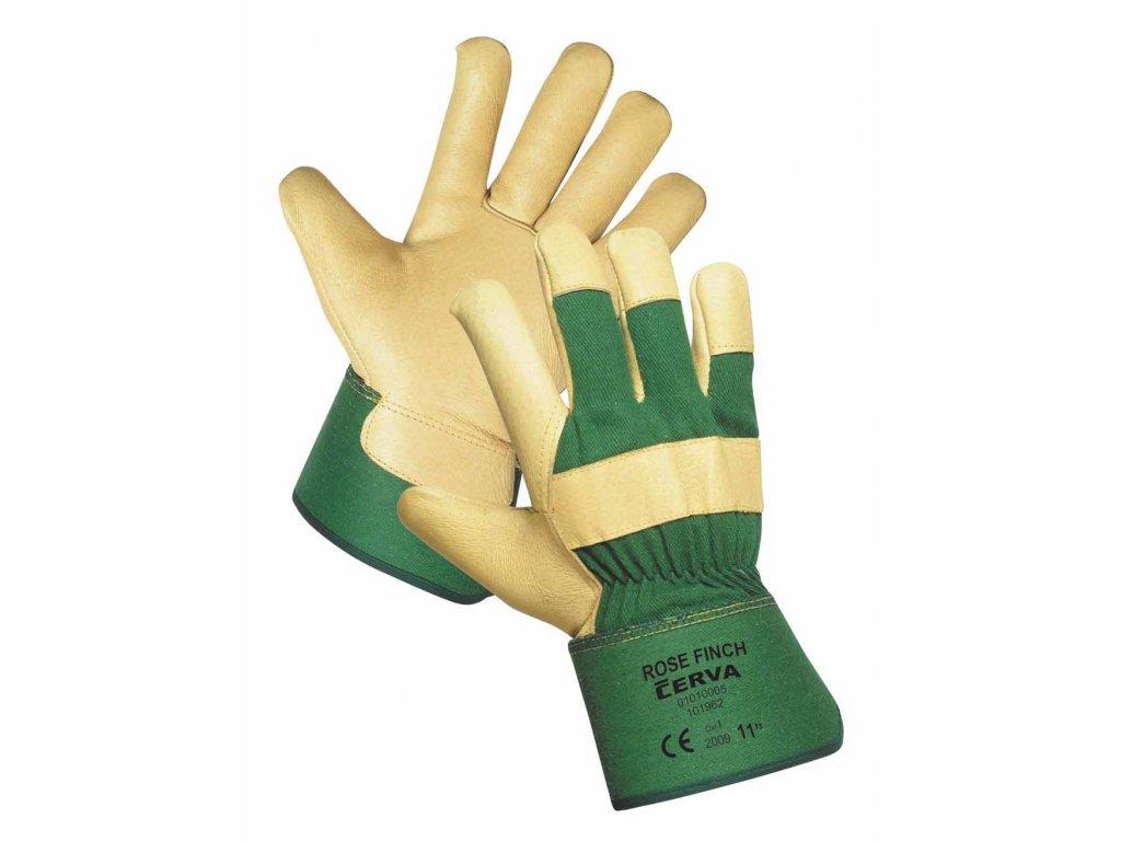 dcda269a455 Pracovní rukavice kombinované teplé ROSE FINCH zelené pánské ...