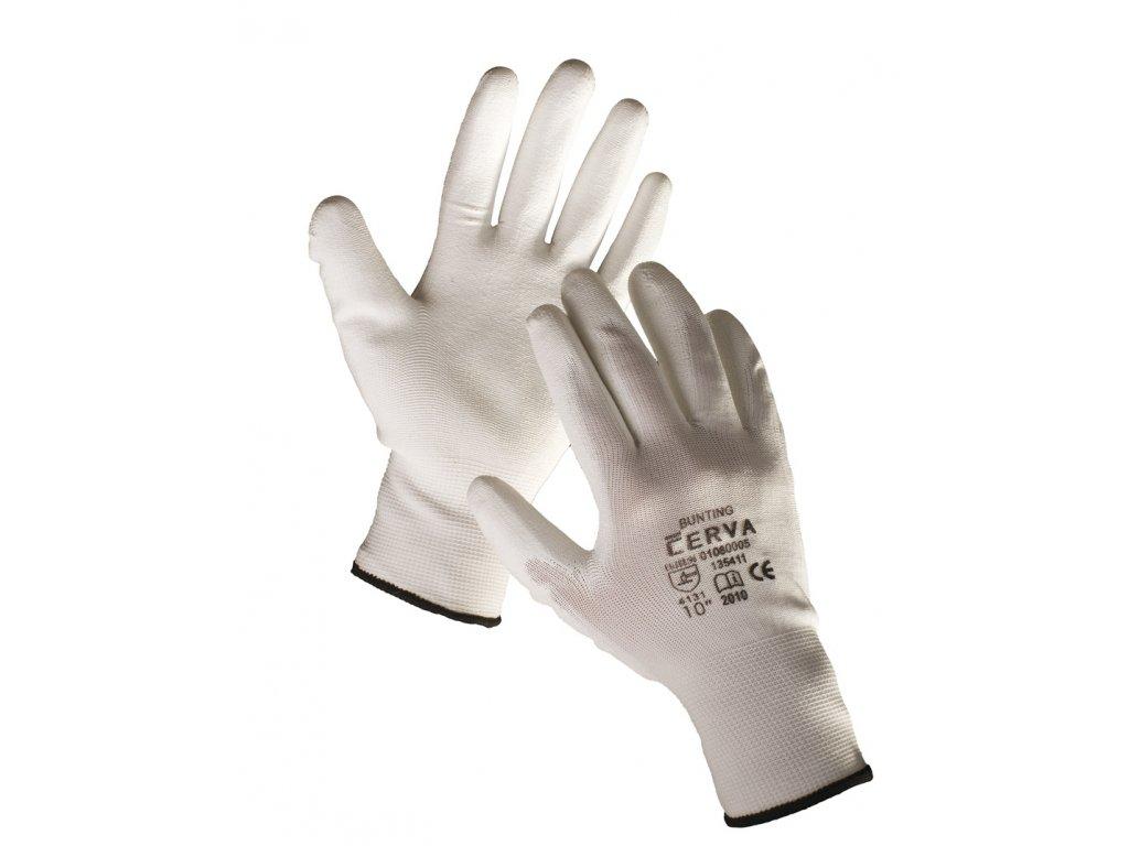 Pracovní rukavice pletené máčené BUNTING