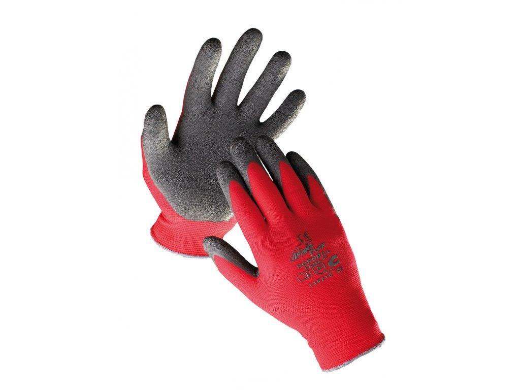 Pracovní rukavice pletené máčené HORNBILL