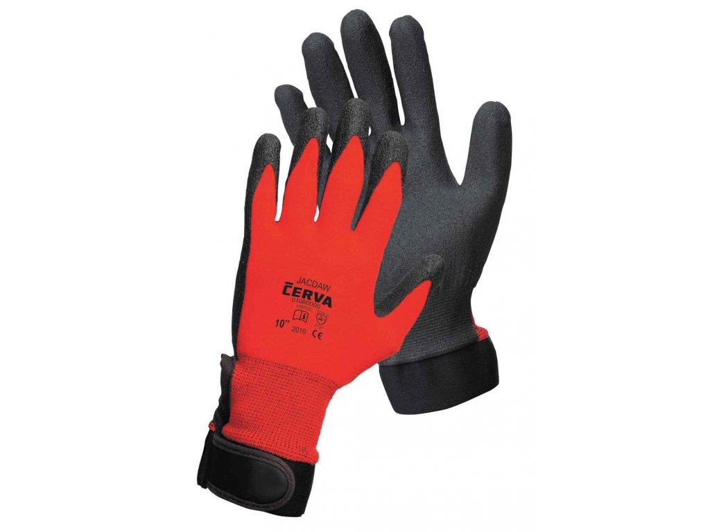 Pracovní rukavice pletené máčené JACKDAW