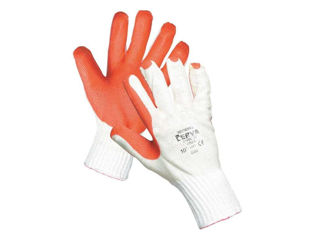 Pracovní rukavice pletené máčené REDWING
