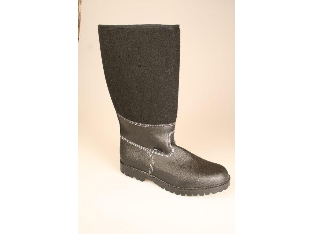 Koženofilcová obuv