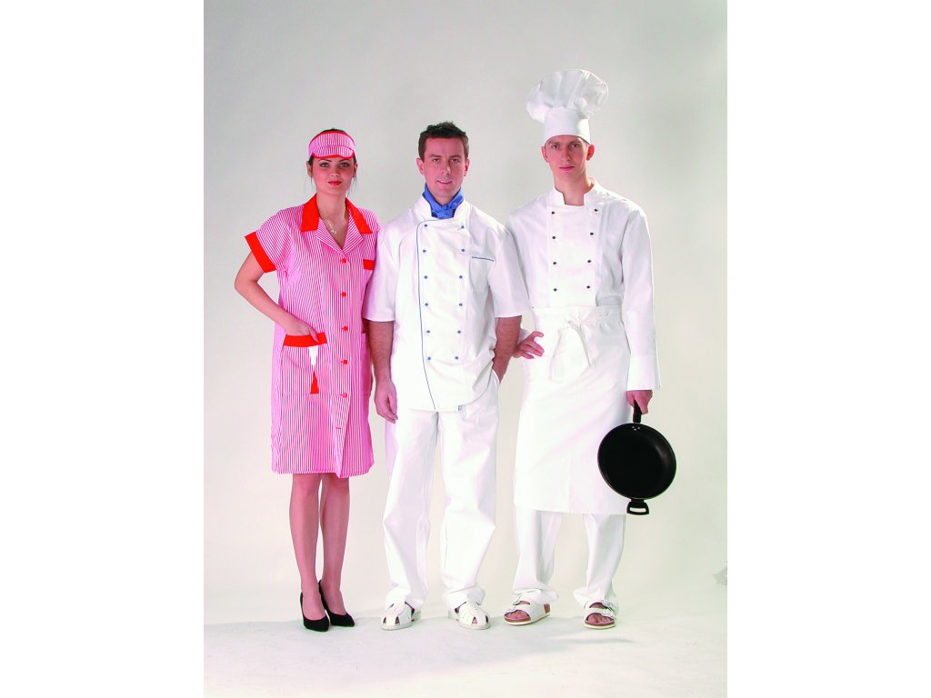 Zástěra pánská do pasu bílá pro kuchaře 58.21
