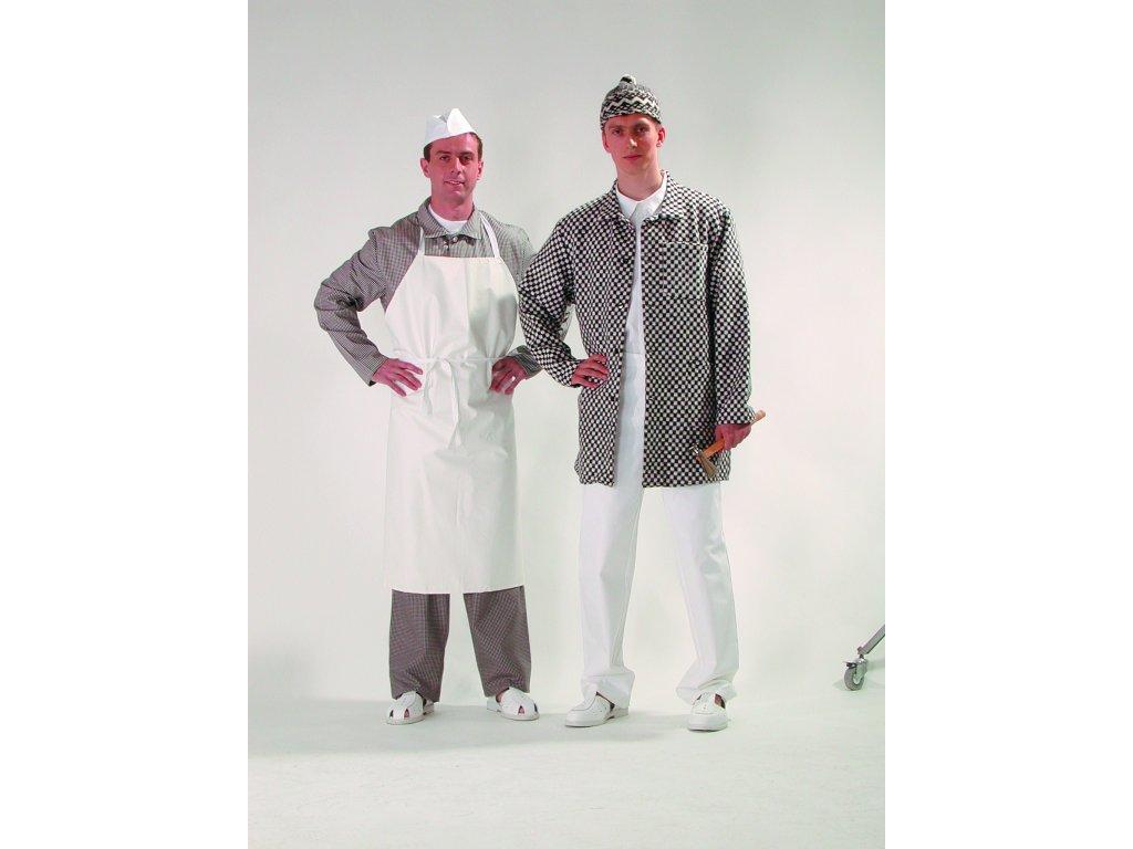 Zástěra pánská s laclem bílá pro kuchaře 59.21