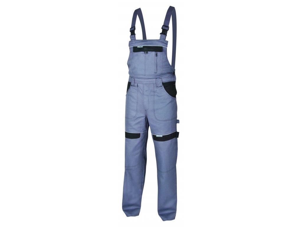Montérkové kalhoty s laclem COOL TREND na 194 cm šedá/černá