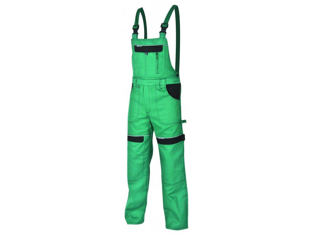 Montérkové kalhoty s laclem COOL TREND na 194 cm zelená/černá