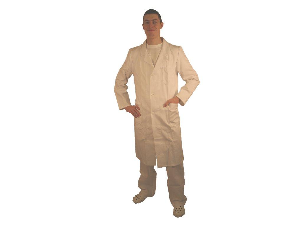 Plášť pánský pracovní bílý, dlouhý rukáv 50.21