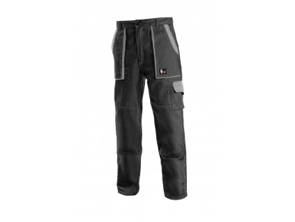 Montérkové kalhoty do pasu JOSEF LUX černo/šedé