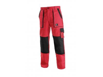 Montérkové kalhoty do pasu JOSEF LUX červeno/černé
