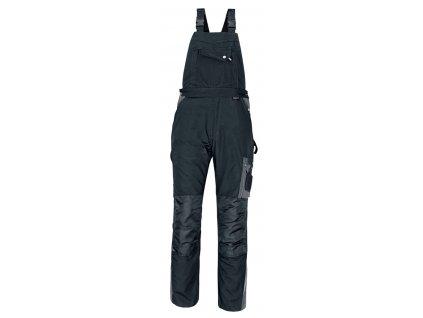 Montérkové kalhoty s laclem ALLYN černá-šedá