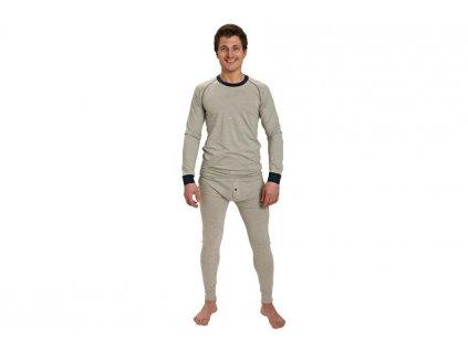 Tričko s dlouhým rukávem LION zimní termoprádlo šedá