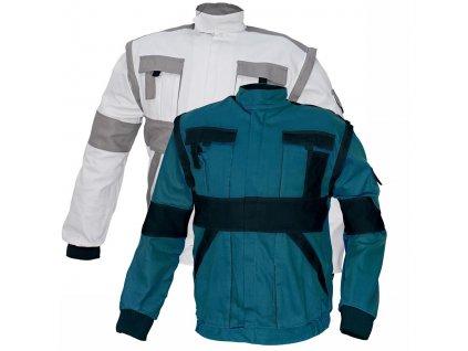 Montérková bunda MAX 2 v 1 bílá-šedá