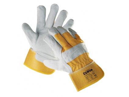 Pracovní rukavice kombinované EIDER žluté