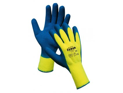 Pracovní rukavice pletené máčené BLUETAIL